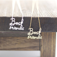 BEST FRIENDS Necklace in 2 colors -gold / silver, N0041G
