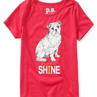 PS from Aero  Kids' Shine Bulldog Sleep Tee
