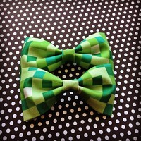 Minecraft handmade fabric hair bow