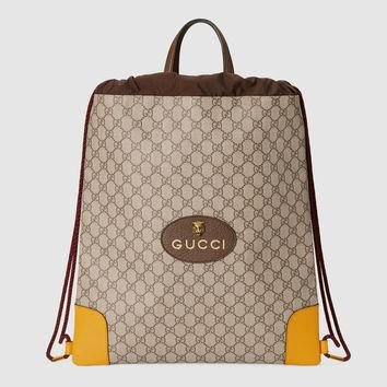 Gucci GG Supreme drawstring backpack