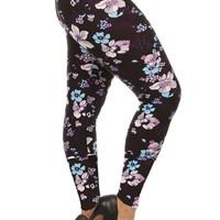 Falling Daisies Design Plus Size Leggings
