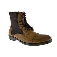 Bonafini Men's D707 Calf High Zip Combat Boots