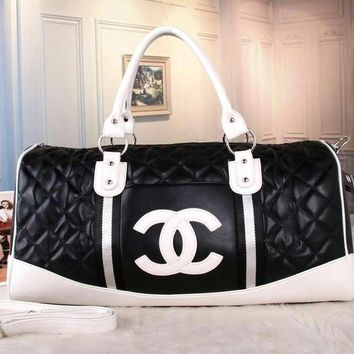 CHANEL Women Fashion Leather Tote Handbag Travel Luggage Bag