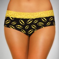 Batman Lace Trim Boyshorts