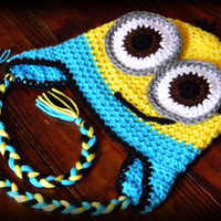 Minion  Dispicable Me Crochet Beanie by HandCraftsByNev on Etsy