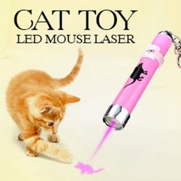 Laser Pointer Pen Pet Cat LED Mouse Rom Color