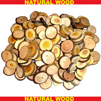Wooden Discs Wood Slices Wooden Pieces Natural Rustic Wood Discs Weddings Jewelry Supplies 30 pcs