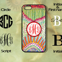 Monogram Patten -iPhone 5, 5s, 5c, 4s, 4 case, Ipod touch 5, Samsung GS3, GS4 case-Silicone Rubber or Hard Plas