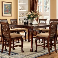 CM3185PT-7PC 7 pc petersburg ii cherry finish counter height dining table set