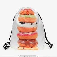 Donuts Drawstring Backpack/Bag