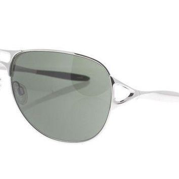 ICIKB7E OAKLEY Hinder OO 4043-02 Polished Silver & Brown / Warm Gray Sunglasses NWC AUTH