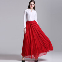 2017 Trending Fashion Women Chiffon Beach Long Dress _ 11856