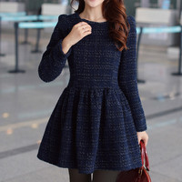 Long Sleeve Worsted Skater Dress