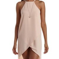Nude Racer Front Tulip Shift Dress by Charlotte Russe