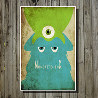 Disney Art Pixar Poster movie poster Monsters Inc. by Harshness