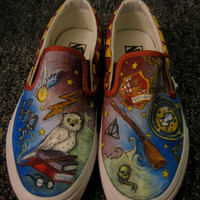 Custom Harry Potter Painted Shoes
