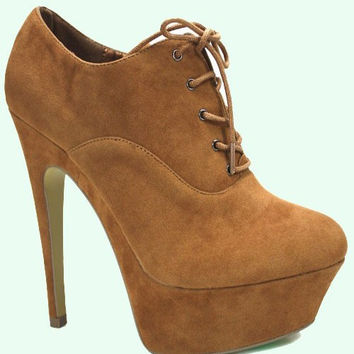 Lace-up Platform Bootie