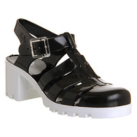 JuJu Babe Hi Juju Jelly Black White - Sandals