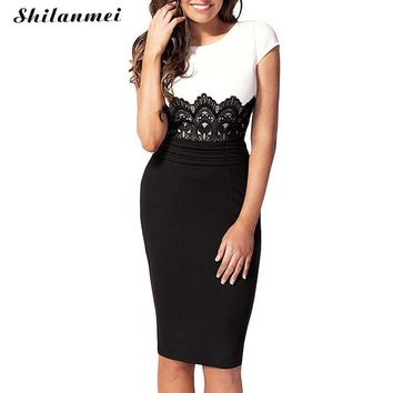 Sexy Business women dresses party short sleeve gothic jurken Feminino gatsby club fall self portrait Slimming dresses Mujer