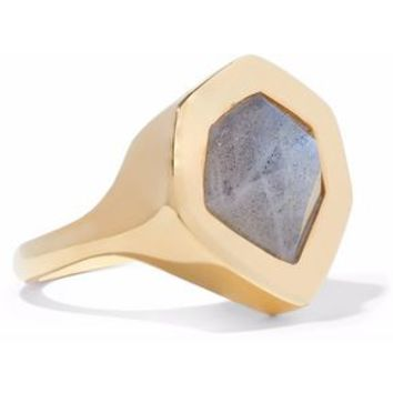 Petra 18-karat gold vermeil labradorite ring | MONICA VINADER | Sale up to 70% off | THE OUTNET