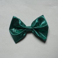 Emerald Green Hair Bow, Ariel inspired Hair Bow, Little Mermaid Bow, Summer Hair Bow, Under the sea