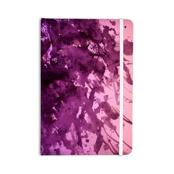 "Ebi Emporium ""Splash Out Purple Pink"" Lavender Blush Everything Notebook"