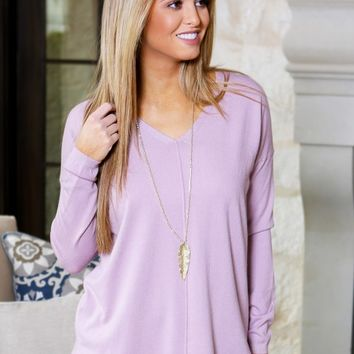 Count On It Sweater in Lavender | Monday Dress Boutique