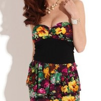 Krazy Sexy Club Cocktail Party Evening Dress #964 Floral