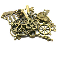 Free shipping!Hot Mixed type Antique Bronze Charms 20pcs Alloy Pendant DIY for bracelet necklace jewelry making BJI000-77