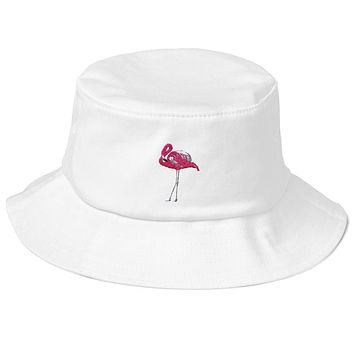 Flamingo - Old School Bucket Hat