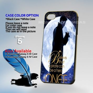Once Upon a Time Captain Hook, Photo Hard Plastic iPhone 5 Case Cover