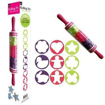Rolling Pin with Cookie Cutters (Available in a pack of 1)