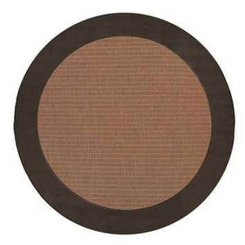 Couristan Recife Checkered Field Rug In Cocoa-Black