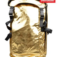 SPRAYGROUNDGOLD BRICK BACKPACK