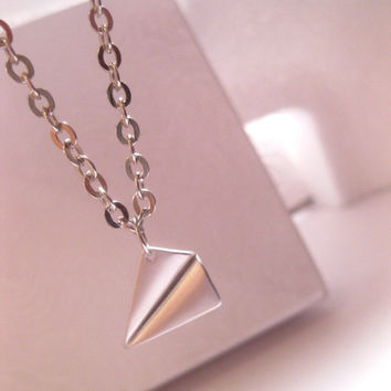 Medium To Small Sized Airplane Necklace Inspired By Harry Styles - #One Direction - Paper Airplane - Origami