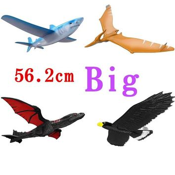 EPP Airplane Hand Launch Throwing Glider Aircraft Inertial Foam Dragon Eagle Shark Plane Model Outdoor Toy Educational Toys Gift