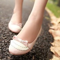 lovely sides bowtie flats from Bright91