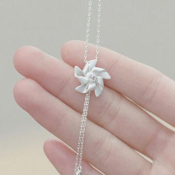 womens unique windmill necklace gift 65