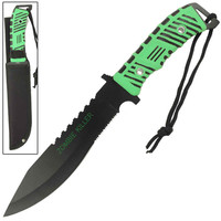 FULL TANG ZOMBIE KILLER SURVIVAL KNIFE WITH SHEATH