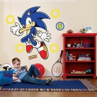 Party Destination 191188 Sonic the Hedgehog Giant Wall Decals