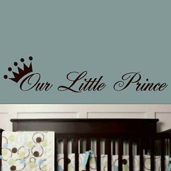 LITTLE PRINCE Baby Nursery Wall Sticker Transfer Huge Removable Vinyl