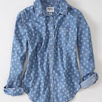 Dots & Dahlias Chambray Buttondown