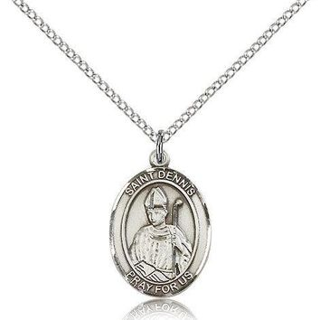 """Saint Dennis Medal For Women - .925 Sterling Silver Necklace On 18"""" Chain - 3... 617759373882"""