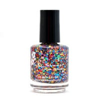 Clown Puke - Rainbow Glitter Bomb Nail Polish- 0.5 oz Full Sized Bottle