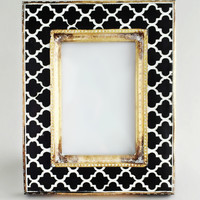 Chic Black & White Moroccan Frame