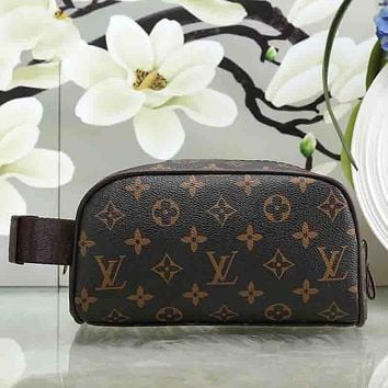 LV Louis Vuitton Women Fashion Leather Clutch Bag Tote Handbag Satchel