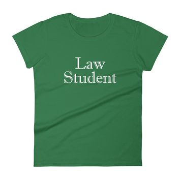 Law Student High-Quality Ladies Fitted T-Shirt by Grad Student Design
