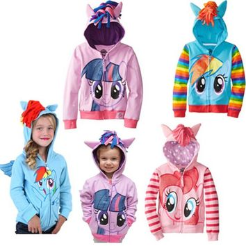 Cute Brand Children's Outerwear, Boys Girls Clothing Coat Little Pony Jackets