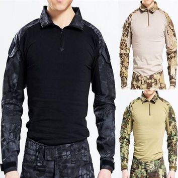 Usmc Frog II tactical military camouflage combat trousers shirts Airsoft Games Hunting Tops