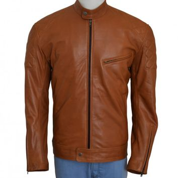 Brown Biker Fashionable Men's Jacket – In Style Jackets